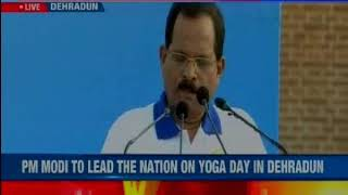 PM Modi leads International Yoga day2018 celebrations at the Forest Research Institute in  Dehradun - NEWSXLIVE