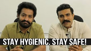 NTR, Ram Charan Spreading Awareness | Corona Virus Preventive Measures | COVID-19 - TFPC