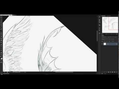Como dibujar alas / How to draw wings (speed drawing)