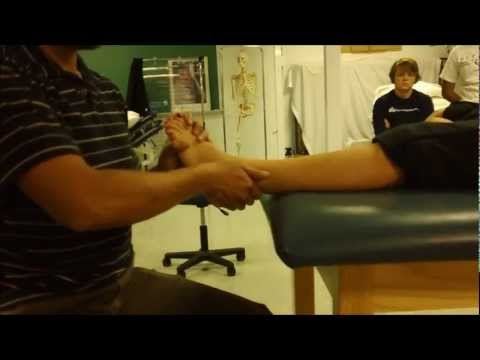 Lateral Malleolus Mobilization Posterior Glide for Ankle Sprains