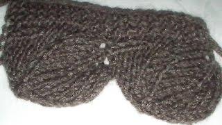 Вязание  спицами : кайма листочки
