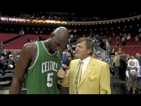 2009.01.22 Kevin Garnett Interview with Craig Sager after Celtics won Magic