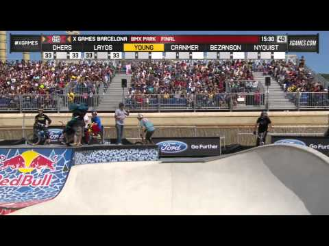 Gary Young wins BMX Park gold