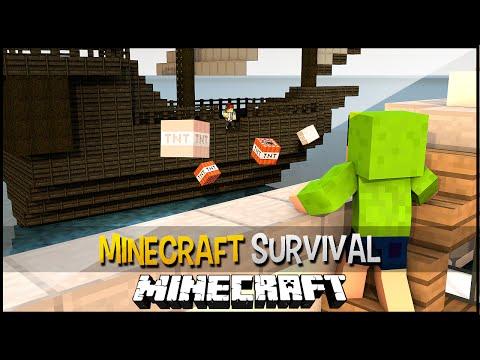 Minecraft Survival Ep.130 - Perola Negra Vs Titanic, a Batalha de Navios Continua !!