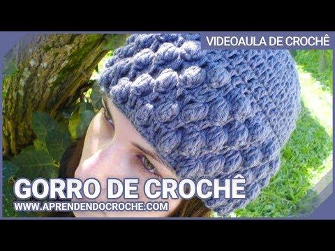 Gorro Croche Glamour - Aprendendo Crochê