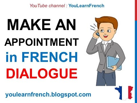 French Lesson 65 - Make an appointment on the phone - Dialogue Conversation + English subtitles