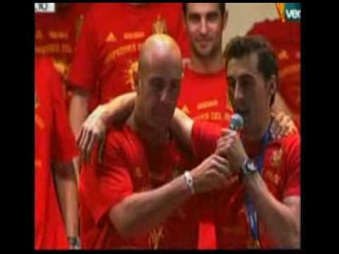 Spania 2010 World Cup vinnere massiv feiring i Madrid med alle spillerne