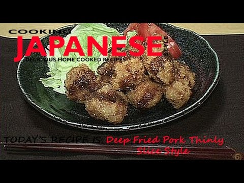 How to make Deep Fried Pork-Thinly Slice Style (Recipe #2)