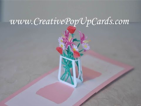 Mother's Day Pop Up Card: Flower Bouquet Tutorial