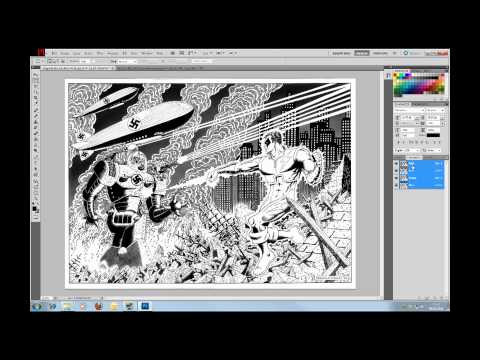 3D Photoshop Tutorial 01 - Create Stereo 3D from 2D Comic Images