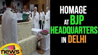 Homage to Former PM Atal Bihari Vajpayee at BJP Headquarters in Delhi | #RIPABV | Mango News - MANGONEWS