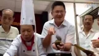 2016.05.31挑戰金氏記錄巨無霸八寶鯖魚養生粽公開亮相