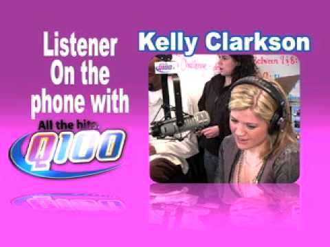 Q100 Atlanta - Kelly Clarkson on the Bert Show- PT3