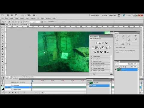 How to correct colour in underwater video using Adobe Photoshop CS5.5