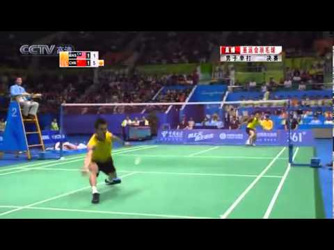 Unbelievable Badminton Rally! Lin Dan vs Lee Chong Wei - 2010 Asian Games