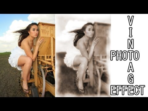 Photoshop CS5 vintage photo effect tutorial