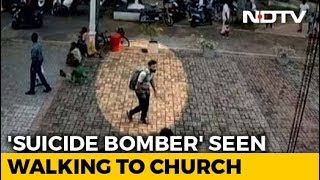 On Video, Alleged Suicide Bomber Pats Girl Before Entering Lanka Church - NDTV