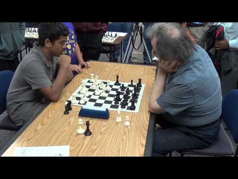 Rahul playing blitz against GM Roman Dzindzichashvili