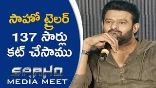 Prabhas About Saaho Trailer Output | Saaho Media Meet | TFPC - TFPC