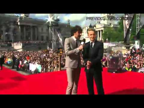 The Harry Potter premiere red carpet event Video of Draco Malfoy