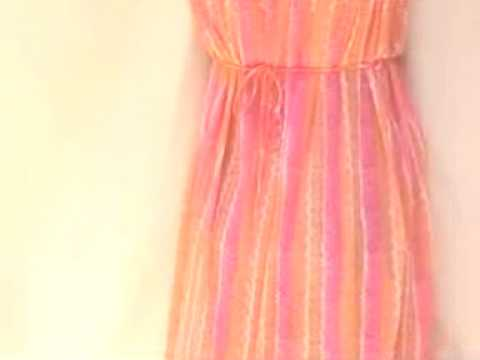 Nylon Slinky Slip Night gown dress New Vintage Dress FROM MSFIRECRACKER ON EBAY.mov