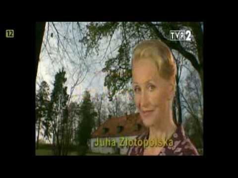 """Czołówka serialu """"Złotopolscy"""" z rolą Anny Przybylskiej jako sympatycznej Marylki Baki"""