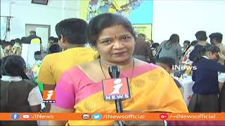 Science & Art Exhibition In Hyd Public School | IT Commissioner Srinivas Appropriate Students |iNews - INEWS