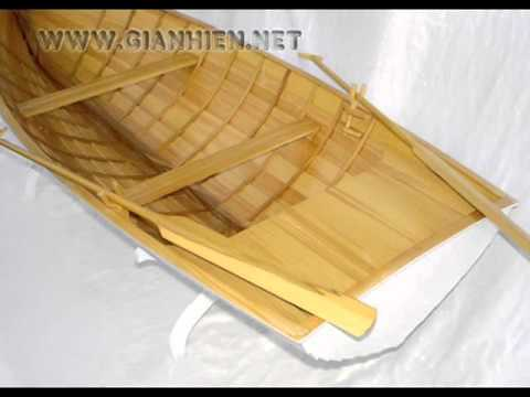 ROWING BOAT - HANDICRAFTS WOODEN MODEL BOATS
