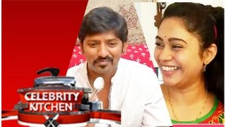 Actress Sandya and Actor Sakthi in Celebrity Kitchen – PuthuYugam TV Show