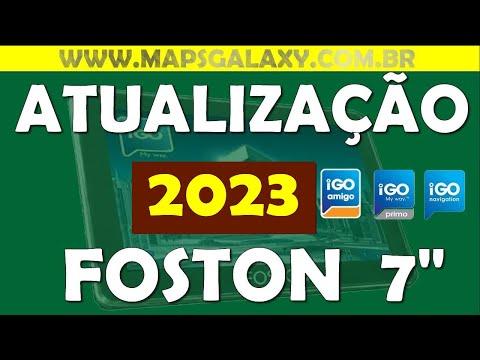 Atualização 2014 GPS FOSTON ndrive FS 3D710DT 7 polegadas