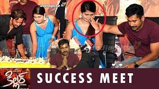 Heroine cries @ Killer Telugu Success Meet | Vijay Antony | Arjun Sarja | Ashima Narwal | Kolaigaran - IGTELUGU