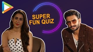 Thrill! Excitement! Hilarious – Ranveer – Sara's 'Bollywood Cop Drama' quiz will leave you in splits - HUNGAMA