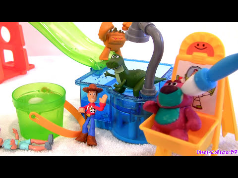 Color Changers Cars & Toy Story Slide n Surprise Playground Playset Colour Shifters Disney Pixar
