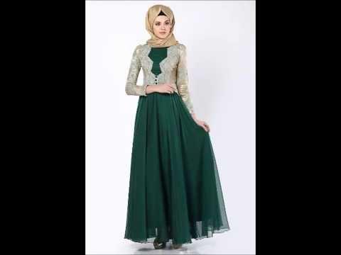 فساتين محجبات رائعه 2015 - 2016 - Hijab Dresses