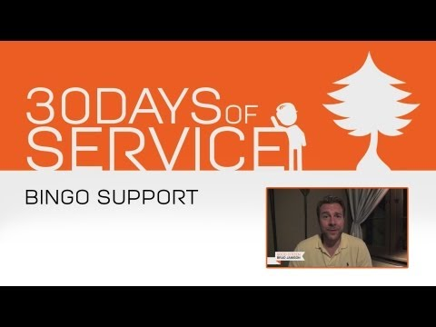 30 Days of Service by Brad Jamison: Day 17 - Bingo Support