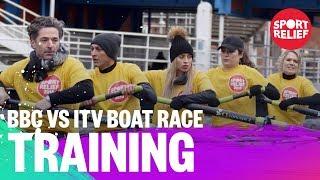 BBC and ITV presenters train for the boat race - Sport Relief 2018 - BBC - BBC
