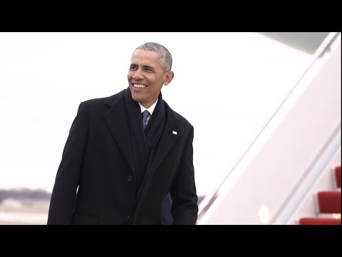 Obamowie żegnająsięz Białym Domem