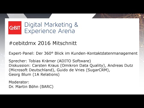 "#cebitdmx: Expert Panel ""360° Kundenmanagement"""