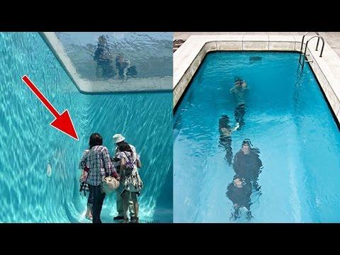 أغرب 5 حمامات سباحة فى العالم - صوت وصوره لايف