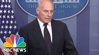General John Kelly 'Stunned' And 'Broken-Hearted' By Rep. Wilson's Condolence Call Claims | NBC News - NBCNEWS