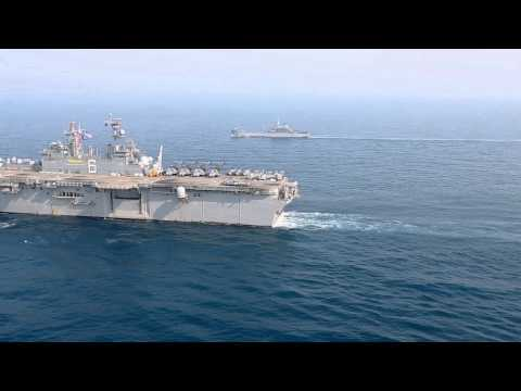 USS Bonhomme Ruchard (LHD 6) underway