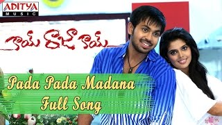 Pada Pada Madana Full Song || Kai Raja Kai Movie || Ram Khanna, Maanas, Shravya, Shamili - ADITYAMUSIC