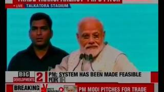 PM Narendra Modi addresses traders at Talkatora stadium, blames Congress for high inflation - NEWSXLIVE