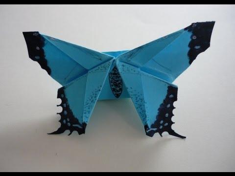 Mariposa de origami: separador y adorno