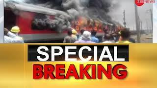 Special Breaking: Andhra Pradesh AC Superfast Express train catches fire near Gwalior - ZEENEWS