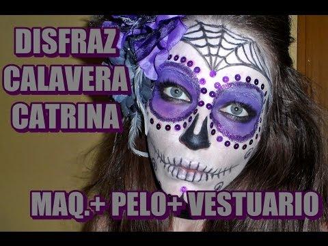 *Halloween* Disfraz calavera mexicana (Catrina)