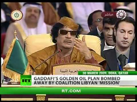 USA's Petro Dollar Threatened by Gaddafi's Gold-for-Oil Plan