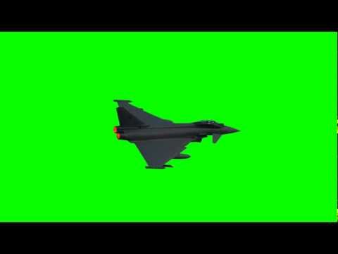 Jet Plane Fly By   Green Screen Animation