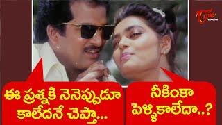 Rajendra Prasad And Silk Smitha Comedy Scenes | Telugu Comedy Videos | NavvulaTV - NAVVULATV