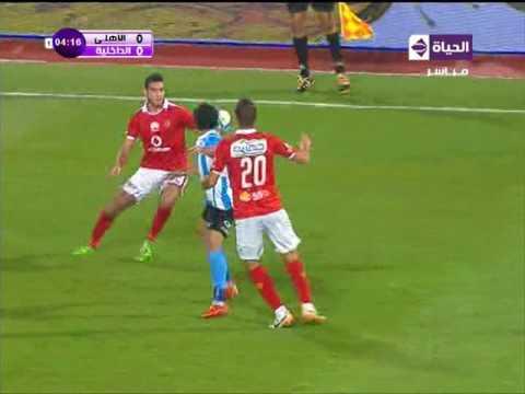 عمرو مرعي يخدع مدافعي الأهلي في أول هجمة خطيرة للداخلية